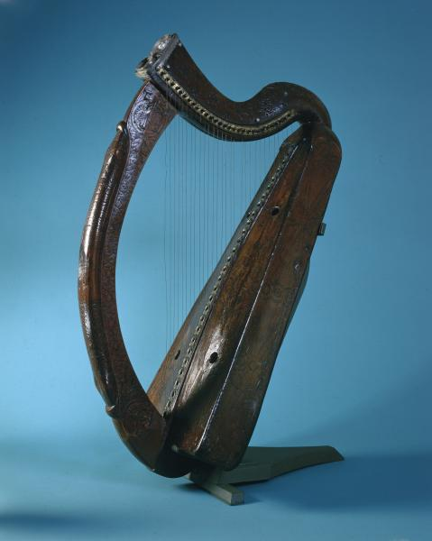 The Brian Boru harp is one of the oldest surviving authentic Gaelic harps. Image Source: Trinity College Dublin.