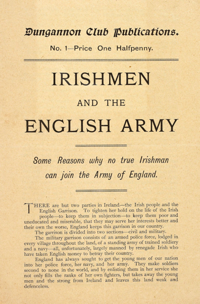 Irishmen and the English Army