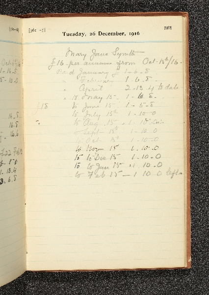 Payments to Mary Jane Smyth