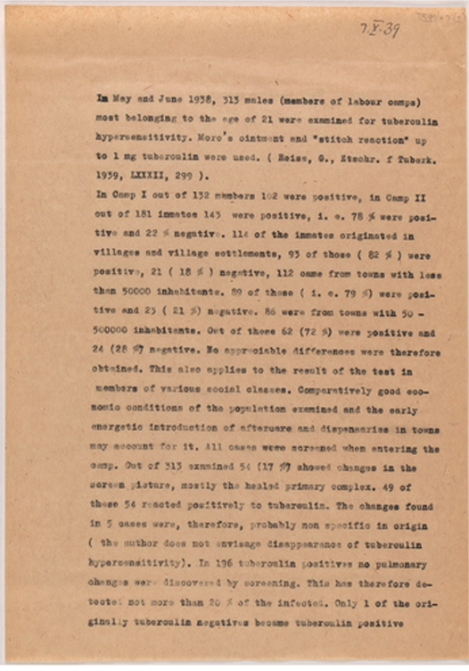 Letter from Walter Pagel to Dorothy Price. 7 October 1939.  TCD MS 7535-117-2.
